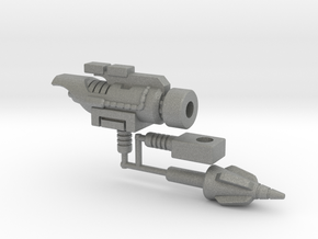 Dinobot Slug's Cannon, 5mm (PotP) in Gray PA12