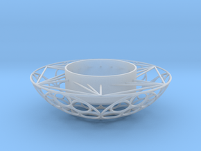 Round Tealight Holder in Smooth Fine Detail Plastic
