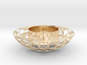 Round Tealight Holder in 14k Gold Plated Brass