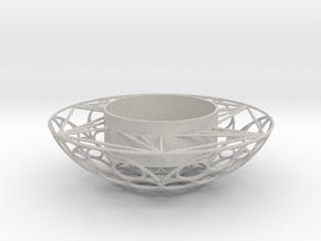 Round Tealight Holder in Natural Full Color Sandstone
