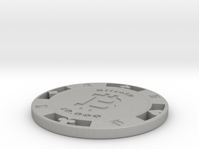 Bitcoin Poker Chip 10k in Aluminum