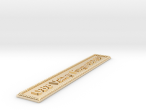 Nameplate USS Valley Forge CG-50 in 14k Gold Plated Brass