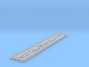 Nameplate USS Lake Champlain CV-39 in Smoothest Fine Detail Plastic