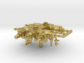 Heavy Mikado Steam Turret in Natural Brass