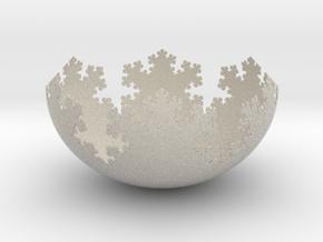 L-System Fractal Bowl in Natural Sandstone