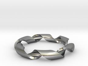 pendant toroidal geodesic shell 1 6 in Natural Silver