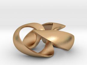 pendant toroidal geodesic shell 2 3 in Natural Bronze