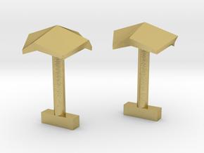 Origami in Natural Brass