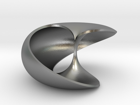 pendant toroidal geodesic shell 1 1 in Natural Silver