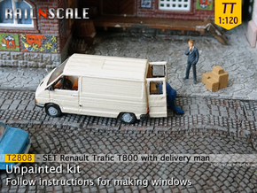 SET Renault Trafic T800 with delivery man (TT) in Smooth Fine Detail Plastic