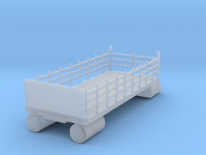 CSX, NS MOW Boom Truck Stake Bed (N) in Smoothest Fine Detail Plastic