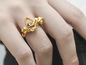 Weaving Ribbons Ring in 14k Gold Plated Brass: 6.5 / 52.75