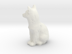 O Scale fox in White Natural Versatile Plastic