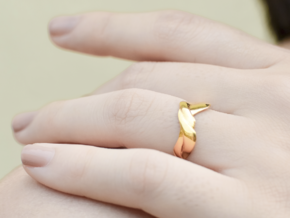 Smooth Weave Ring in 14k Gold Plated Brass: 6.5 / 52.75