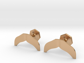 Dallas Mustache Cufflinks in Polished Bronze