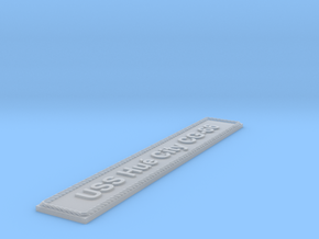 Nameplate USS Hué City CG-66 in Smoothest Fine Detail Plastic