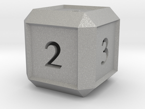 Hollow Six Sided Dice  in Aluminum
