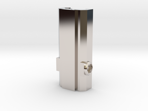Picatinny/Weaver to Dovetail Converter in Rhodium Plated Brass