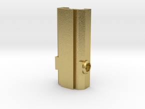 Picatinny/Weaver to Dovetail Converter in Natural Brass