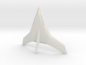 (1:285) Burt Rutan Stealthy Tailsitter Concept in White Natural Versatile Plastic