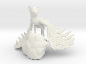 Domesticated Griffin in White Natural Versatile Plastic