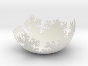 L-System Fractal Bowl 2405 in White Natural Versatile Plastic