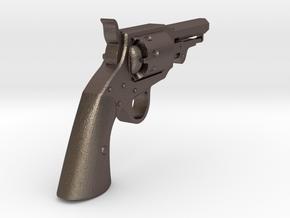 Ned Kelly Gang Colt 1851 Pocket Revolver 1:6 scale in Polished Bronzed-Silver Steel