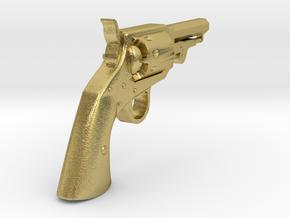 Ned Kelly Gang Colt 1851 Pocket Revolver 1:6 scale in Natural Brass