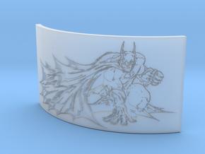 Batman Curved Lithophane in Smooth Fine Detail Plastic