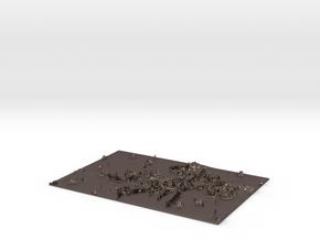 Deadpool flat Lithophane in Polished Bronzed-Silver Steel