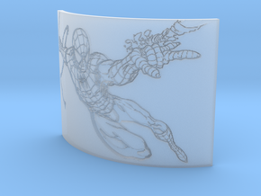Spiderman Curved Lithophane in Smooth Fine Detail Plastic