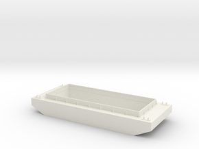 S Scale Barge in White Natural Versatile Plastic