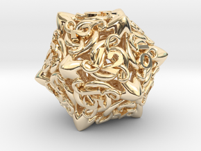 Cthulhu D20  in 14K Yellow Gold