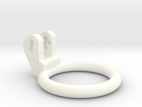 New Fun Cage - Ring - 44mm - Circular in White Processed Versatile Plastic