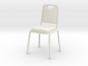 1:6 Scale Chair in White Natural Versatile Plastic