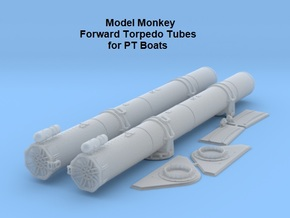 1/32 Forward Torpedo Tubes for PT Boats in Smooth Fine Detail Plastic