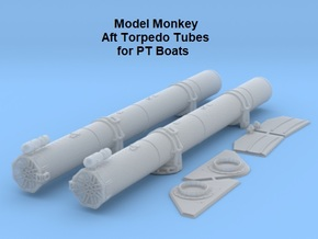 1/32 Aft Torpedo Tubes for PT Boats in Smooth Fine Detail Plastic