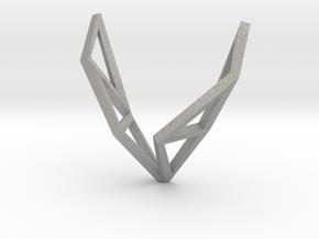 sWINGS Origami Structure, Pendant in Aluminum
