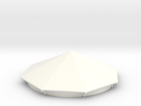Water Tower Roof for Scratchbuilding in White Processed Versatile Plastic
