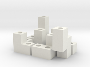 SOMA CUBE in White Natural Versatile Plastic: 6mm