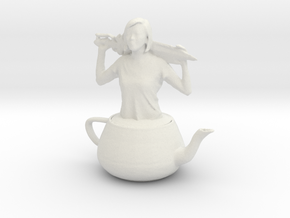 Printle E Femme 001 - Teapot - 1/28 in White Natural Versatile Plastic