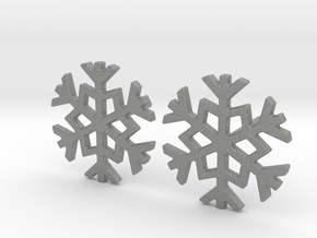 Snowflake earrings in Gray PA12