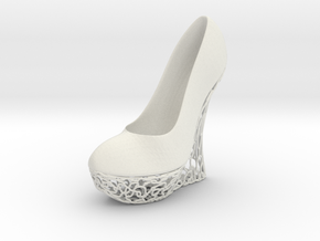 Left High Heel Wedge (complete) in White Natural Versatile Plastic
