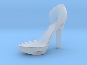 Left Leather-Strap High Heel in Smooth Fine Detail Plastic