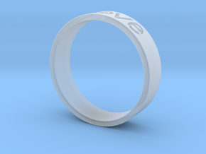 Love ring in Smooth Fine Detail Plastic