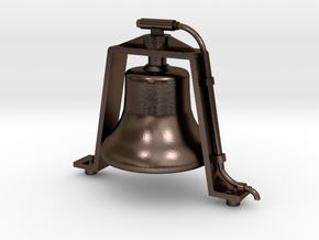 "Bronze 1.5"" Scale Air Powered Bell  in Polished Bronze Steel"