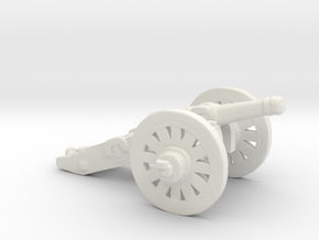 S Scale Cannon in White Natural Versatile Plastic