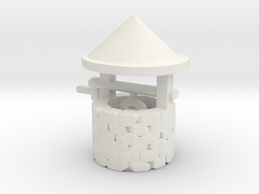 HO Scale Wishing Well in White Natural Versatile Plastic