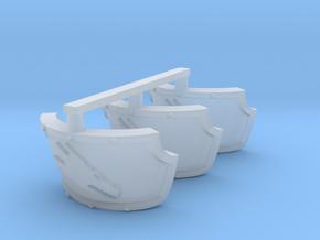 Fire Dragons Centaur Shoulder Pads x3 R in Smooth Fine Detail Plastic