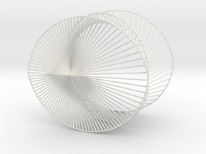Cardioid Geometric 3D String Art V2 in White Natural Versatile Plastic